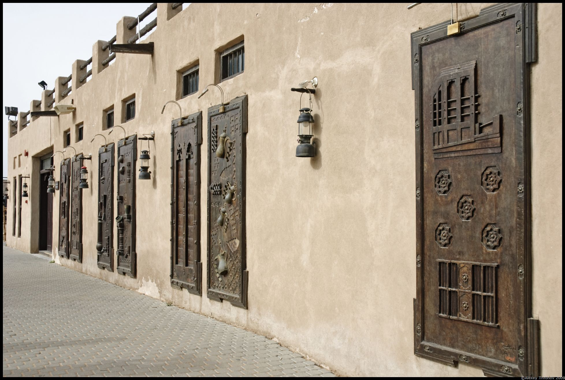 Doors and lamps - open air museum