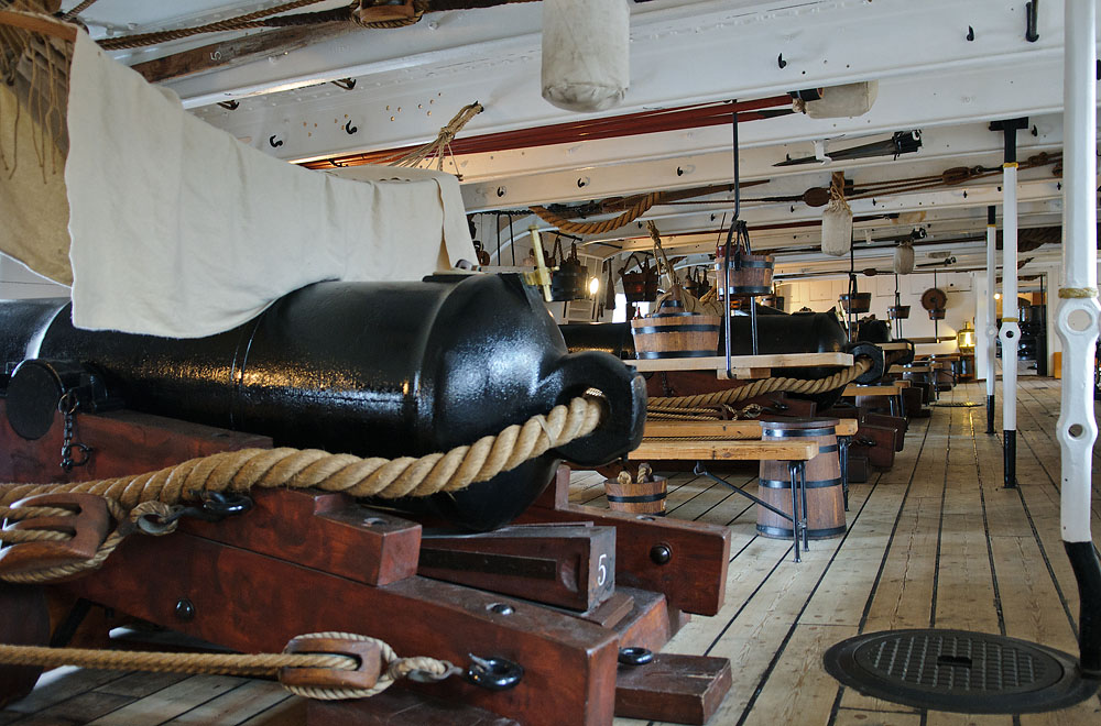 HMS Warrior's main/gun deck