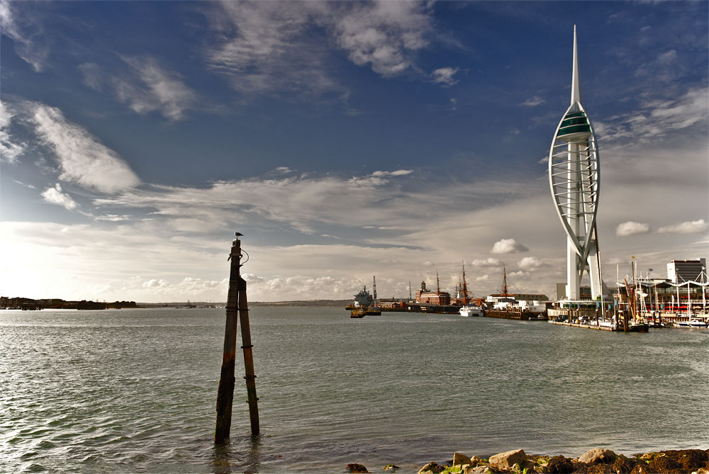 Spinnaker Tower and the historic dockyards