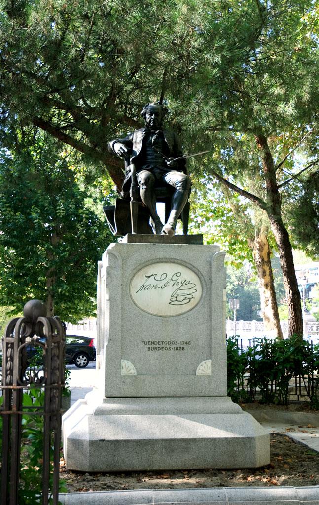 Goya's monument near the Chapel of San Antonio