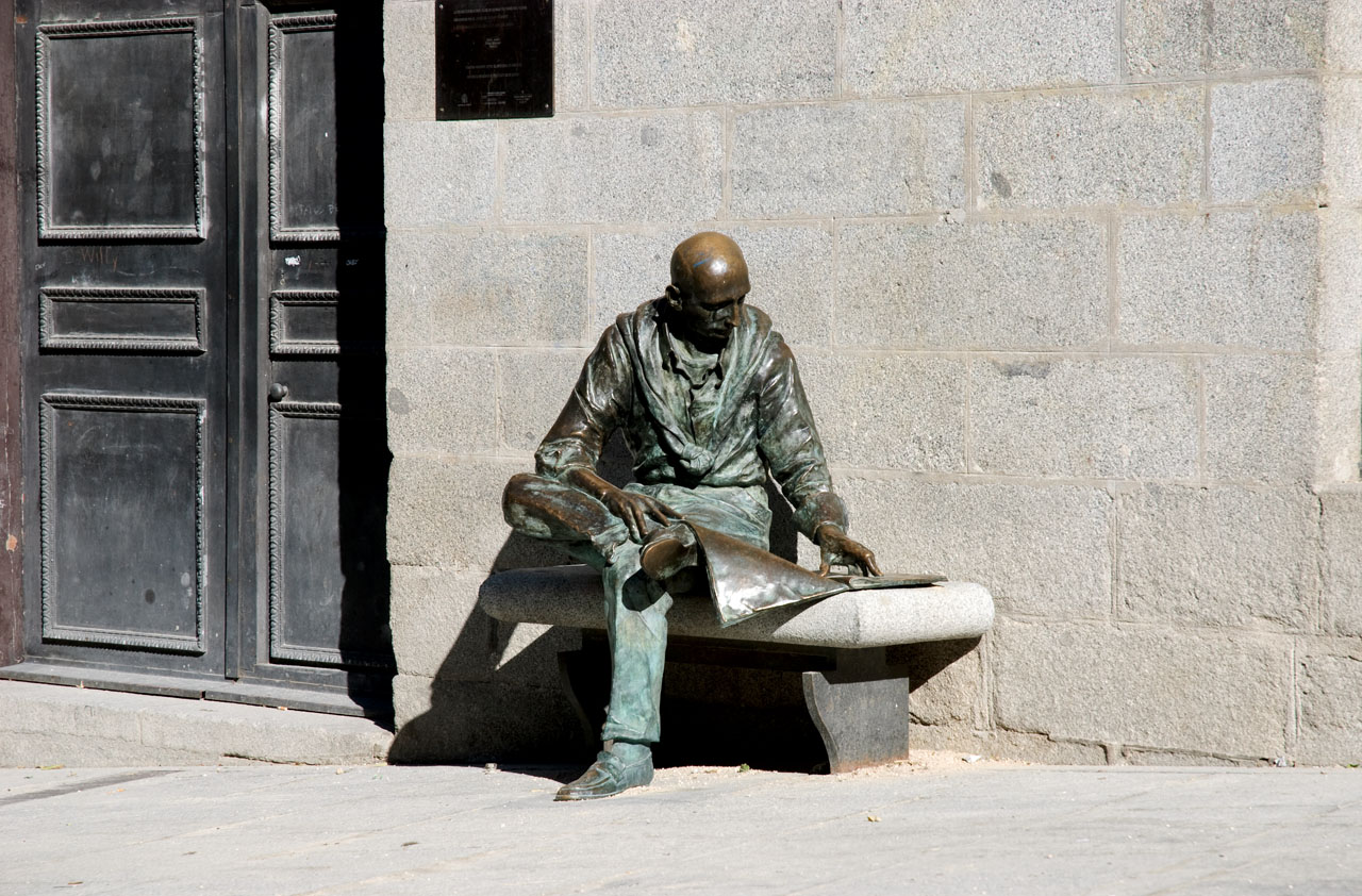 A man on San Andres(?) square